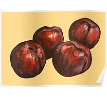 Plum Painting Poster