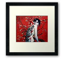 Dragons & Cherry Blossoms  Framed Print
