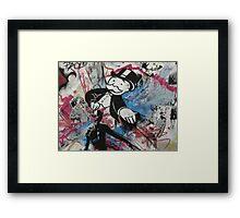graffiti - Monopoly man Framed Print