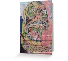 graffiti - day of the dead style line drawing Greeting Card