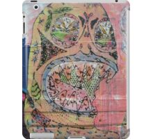 graffiti - day of the dead style line drawing iPad Case/Skin