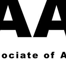 AA (Associate of Arts) Oval  Sticker