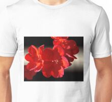 Light on Red Geranium Unisex T-Shirt