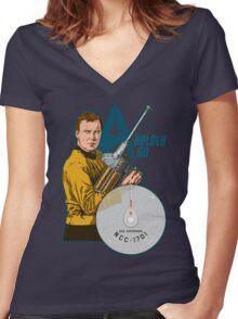 Boldly Go Women's Fitted V-Neck T-Shirt