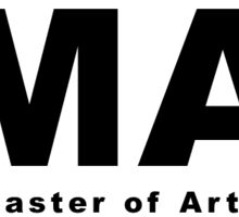 MA (Master of Arts) Oval Sticker