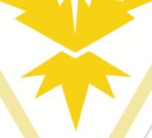 Pokémon Team Instinct - Zapdos (Triangle Background) Sticker