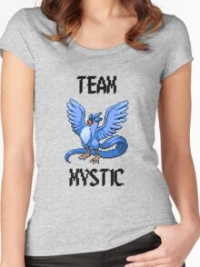 Pixelated Team Mystic Women's Fitted Scoop T-Shirt