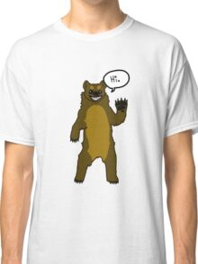 Friendly Cartoon Bear Classic T-Shirt