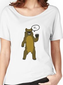 Friendly Cartoon Bear Women's Relaxed Fit T-Shirt