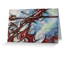 graffiti - dragon like lines Greeting Card