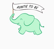 Green Elephant Auntie to Be Womens Fitted T-Shirt