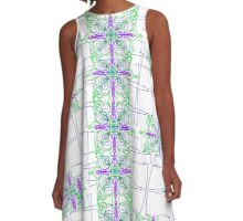 Blooming Squares A-Line Dress