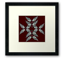 Gothic Blood Stone Bat Wings 2 Framed Print