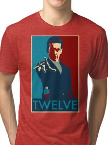 Peter Capaldi Hope Poster Tri-blend T-Shirt