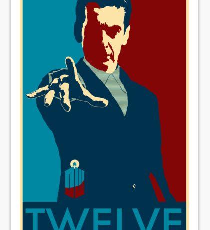 Peter Capaldi Hope Poster Sticker