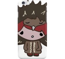 Girl with Echidna hat iPhone Case/Skin