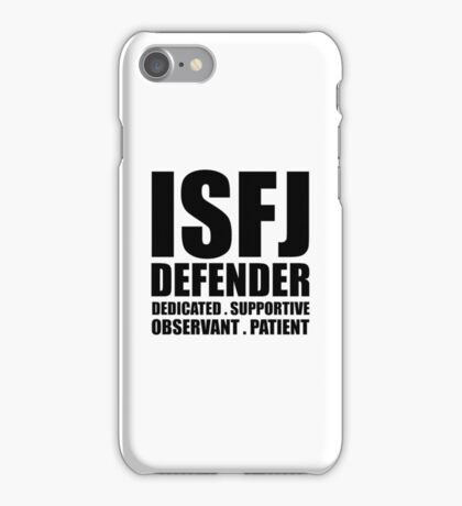 ISFJ Defender Introvert iPhone Case/Skin