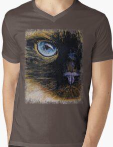 Burmese Cat Mens V-Neck T-Shirt