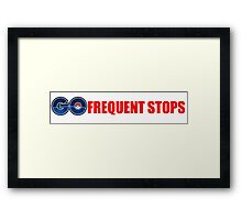 Pokemon Go - Frequent Stops - Recommended Size for Car is Large Framed Print