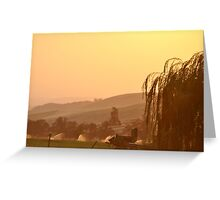 SUNSET OVER EASTERN OREGON Greeting Card