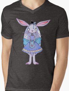 Vintage Bunny Mens V-Neck T-Shirt