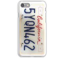California licence Plate iPhone Case/Skin