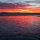 Fiery Beach Sunset by SometimesSilent