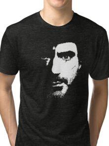 SHerlock Face fades Tri-blend T-Shirt