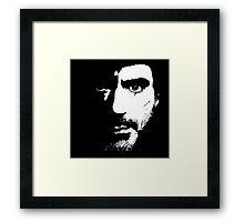 SHerlock Face fades Framed Print