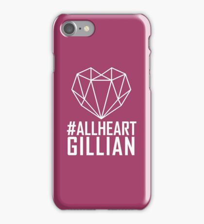 #AllHeartGillian - Wire on Black  iPhone Case/Skin