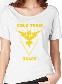 Gold Team Rules - Team Instinct Women's Relaxed Fit T-Shirt