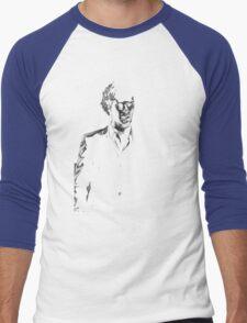 Sherlock standing in dark red Men's Baseball ¾ T-Shirt