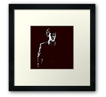 Sherlock standing in dark red Framed Print