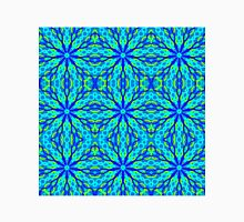 Mandala With Blue Aqua And Yellow - Tiled Unisex T-Shirt