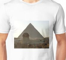 Late Afternoon Sun on Khafre's Pyramid and The Great Sphinx Unisex T-Shirt