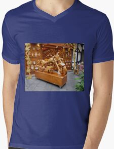 Pinocchio and Other Wood Treasures Mens V-Neck T-Shirt