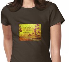 Blessing Prayer Womens Fitted T-Shirt