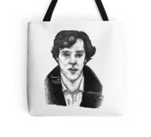 Sherlock black white 00002 Tote Bag