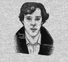 Sherlock black white 00002 Unisex T-Shirt