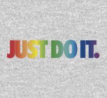Nike- Rainbow Just Do It Kids Tee