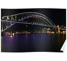 Coloured Bridge  Poster