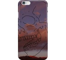 skull w/ some clouds behind iPhone Case/Skin