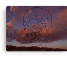 skull w/ some clouds behind Canvas Print