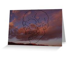 skull w/ some clouds behind Greeting Card