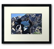 Cliff Monster Framed Print