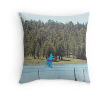 Boat on Lake Mary Throw Pillow