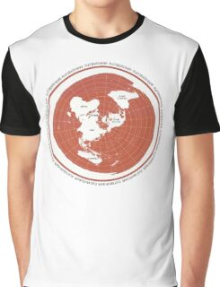 Flat Earth Maps Graphic T-Shirt