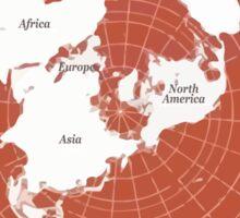 Flat Earth Maps Sticker