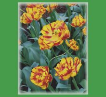 Two-Tone Orange Tulips Vignette Kids Clothes