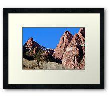Peaks of Red Framed Print